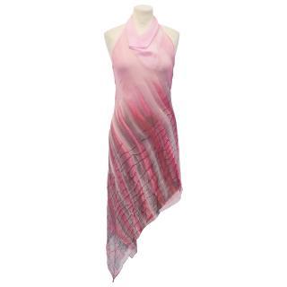 Plein Sud Sun Bias Pink Silk  Dress