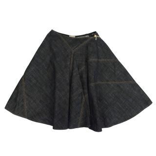 Alaia Denim Circle Skirt