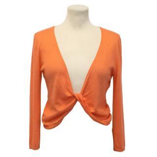 Brunello Cucinelli Orange Cashmere Wrap Jumper