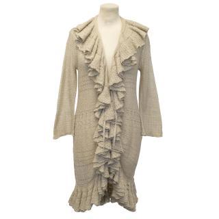 Ralph Lauren Ruffled Crochet Cardigan