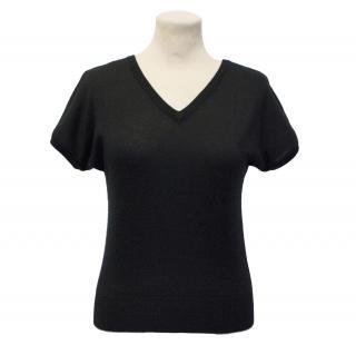 Dolce & Gabbana Black Cashmere Knit Top
