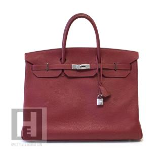 Hermes 40cm red Togo leather Birkin