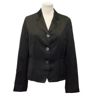 Trussardi Action Black Satin Blazer