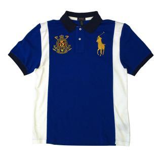 Ralph Lauren Blue and White Polo Shirt