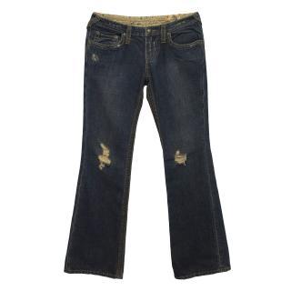 Stitch's Denim Distressed Style Jeans