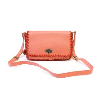 Missoni Coral Leather Satchel Bag With Woven Detailing