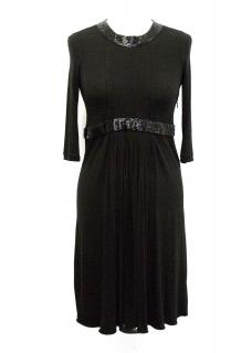 Emporio Armani Beaded Jersey Dress