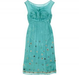 Philosophy di Alberta Ferretti Embellished silk chiffon dress