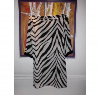 Daslu animal printed silk dress