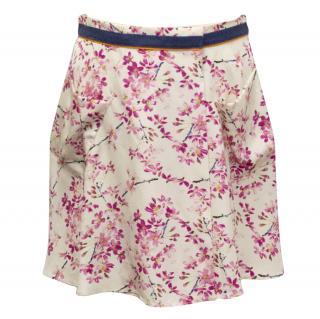 Balenciaga floral silk skirt