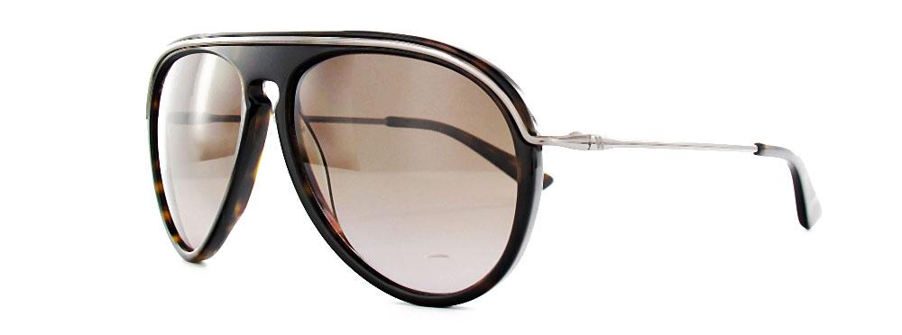 Hogan Unisex (New) Tortoise Shell With Metal Aviator Sunglasses