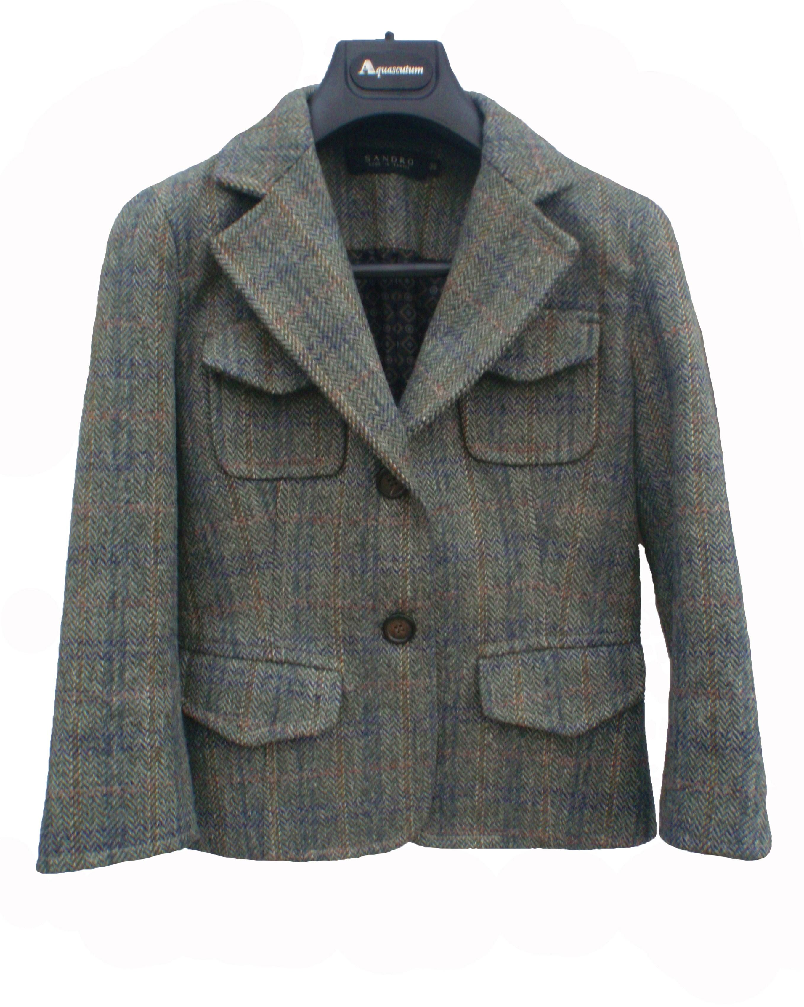 Sandro Green tweed jacket