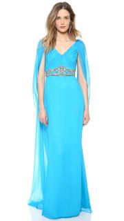 Marchesa Notte new with tags silk caftan gown