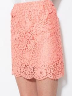 Gold Hawk garden lace silk skirt