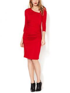 Catherine Malandrino Asymmetrical Ruched Bodycon Dress