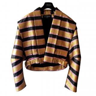 Balmain Gold Lurex Bomber Jacket