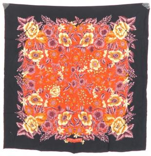 Leonard Silk Twill Scarf with Floral Liberty Print