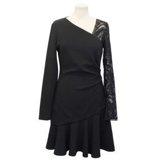 Emilio Pucci Black Crepe Dress With Lace Detail