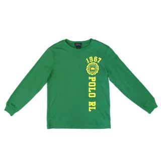 Polo by Ralph Lauren Green Long Sleeve T-Shirt