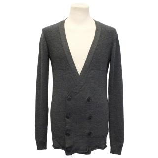 Johan by J.Lindeberg Grey Long Sleeve Wool Cardigan