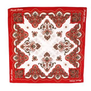 Jacob Cohen Red Paisley Scarf