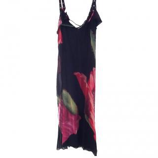 Marc Cain Floral Black dress