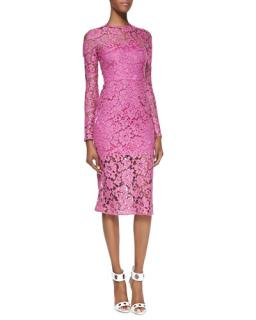 Alexis Pink lace dress