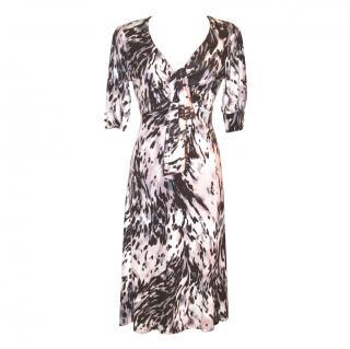 Biba jersey print dress, size 14