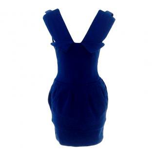 Preen Blue power bandage dress