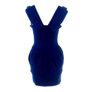 Preen Blue power bandage dress