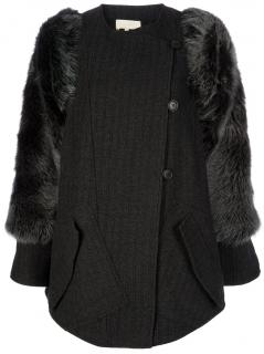 Vanessa Bruno Coat with Fur Arms