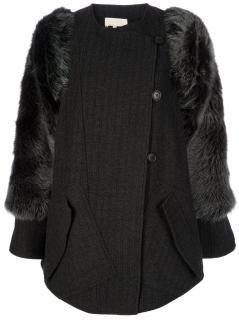 Vanessa Bruno Coat with Fur Arms