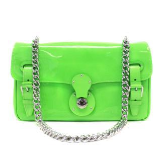 Ralph Lauren 'Ricky' Neon Green Shoulder Bag