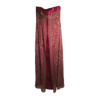 Laundry Shelli Segal Silk Maxi Dress