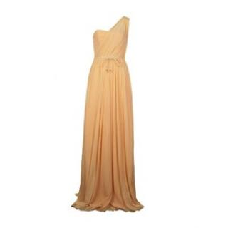 Project D Womens Dream One Shoulder Yellow Maxi Dress