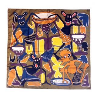 Hermes african design silk scarf
