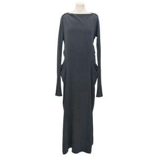 Vanessa Bruno Blue Maxi Dress With Popper Button Detail