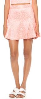 Juicy Couture Cheetah Jacquard Candy Pop skirt