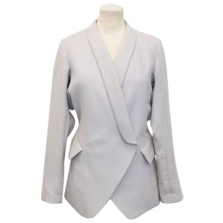 Yves Saint Laurent Grey Wool and Mohair Blazer