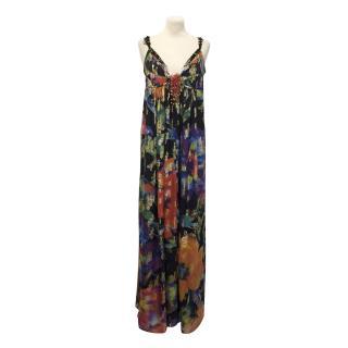Matthew Williamson Floral Silk-Blend Maxi Dress