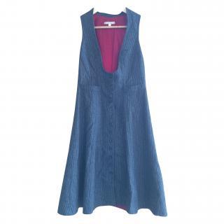 Nanette Lepore Grey Pinstripe Dress