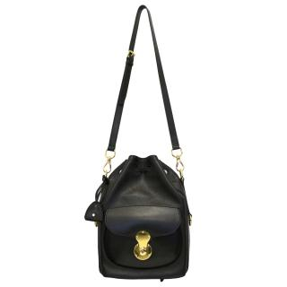 Ralph Lauren Black Ricky Drawstring Bag