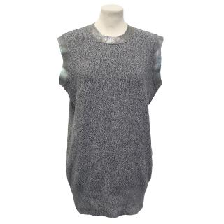 McQ by Alexander McQueen Oil Foil Sleeveless Crew Neck Top