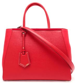 Fendi  red 2 jours handbag