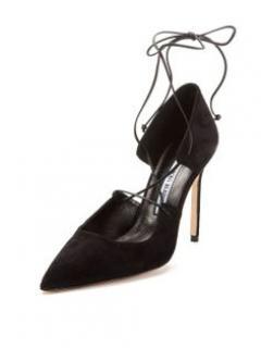 Manolo Blahnik Black Lace Up shoes