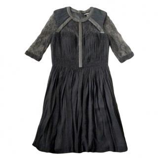 Catherine Deane silk & leather dress