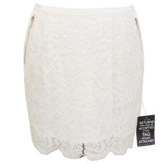 Paul & Joe Cream Lace Skirt