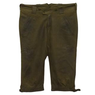 Ralph Lauren Olive Green Leather Capris