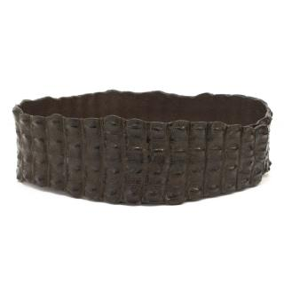 Via La Moda Brown Croc Belt