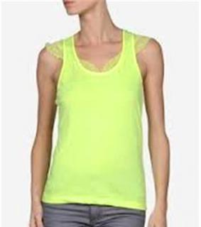 Balenciaga Neon Yellow lace top